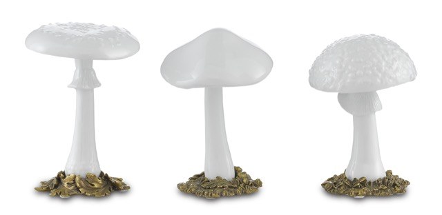 The Dreamland Mushrooms by Currey & Company is one of our new pale products