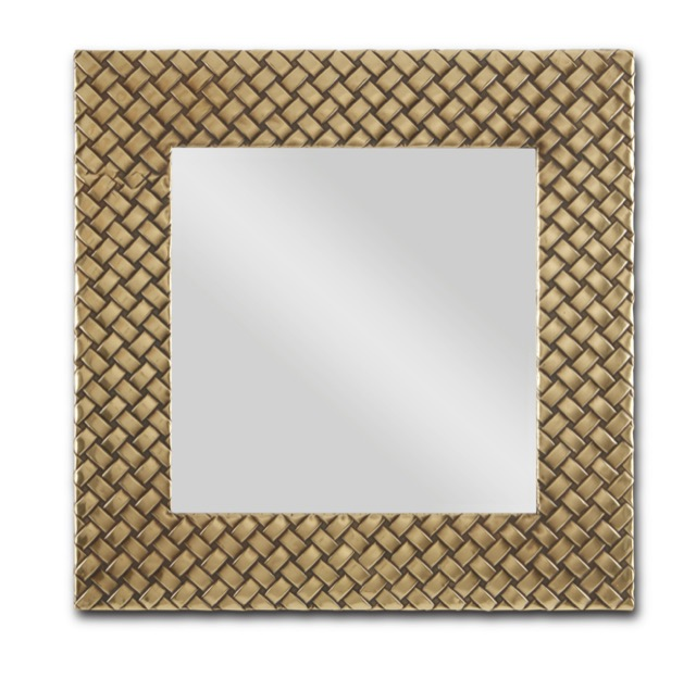 The Margam Mirror by Currey & Company fits perfectly in our going for the gold category.