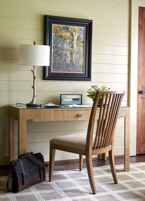 The Beaujon Table Lamp brings the whimsey of faux bois into the Flower Showhouse with its farmhouse style.
