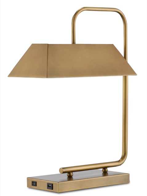 The Hoxton Gold Table Lamp by Currey & Company.