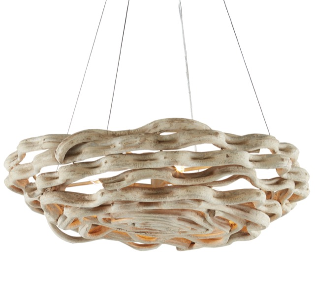 The Currey & Company Atoll Chandelier is one of our new chandeliers.