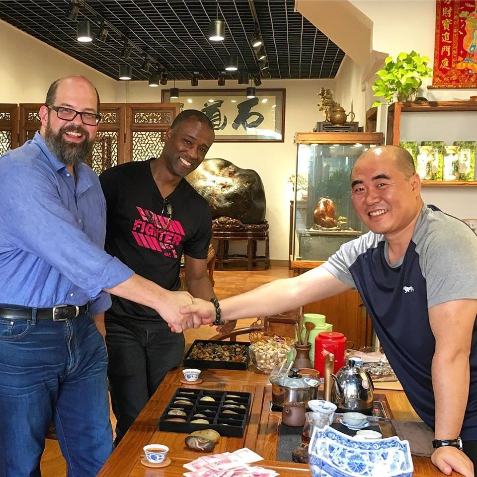 Our President Brownlee Currey and designer Ian Thornton during a 2018 trip to China.