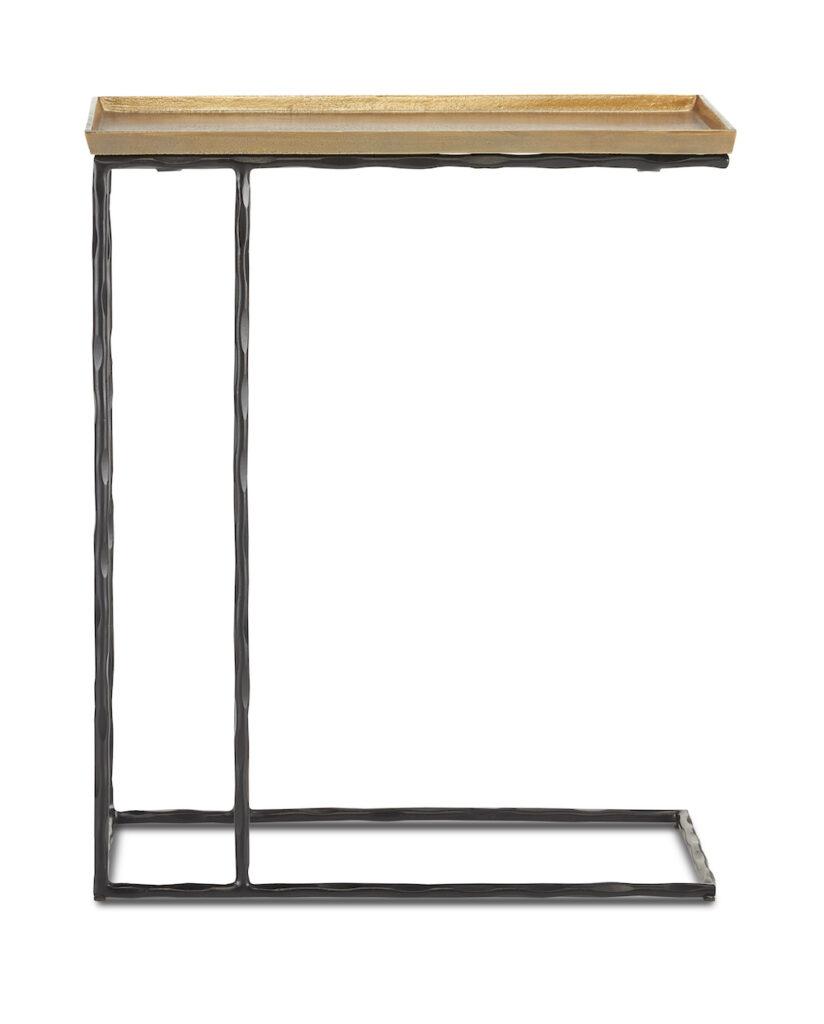 The Currey & Company Boyles Brass C Table.