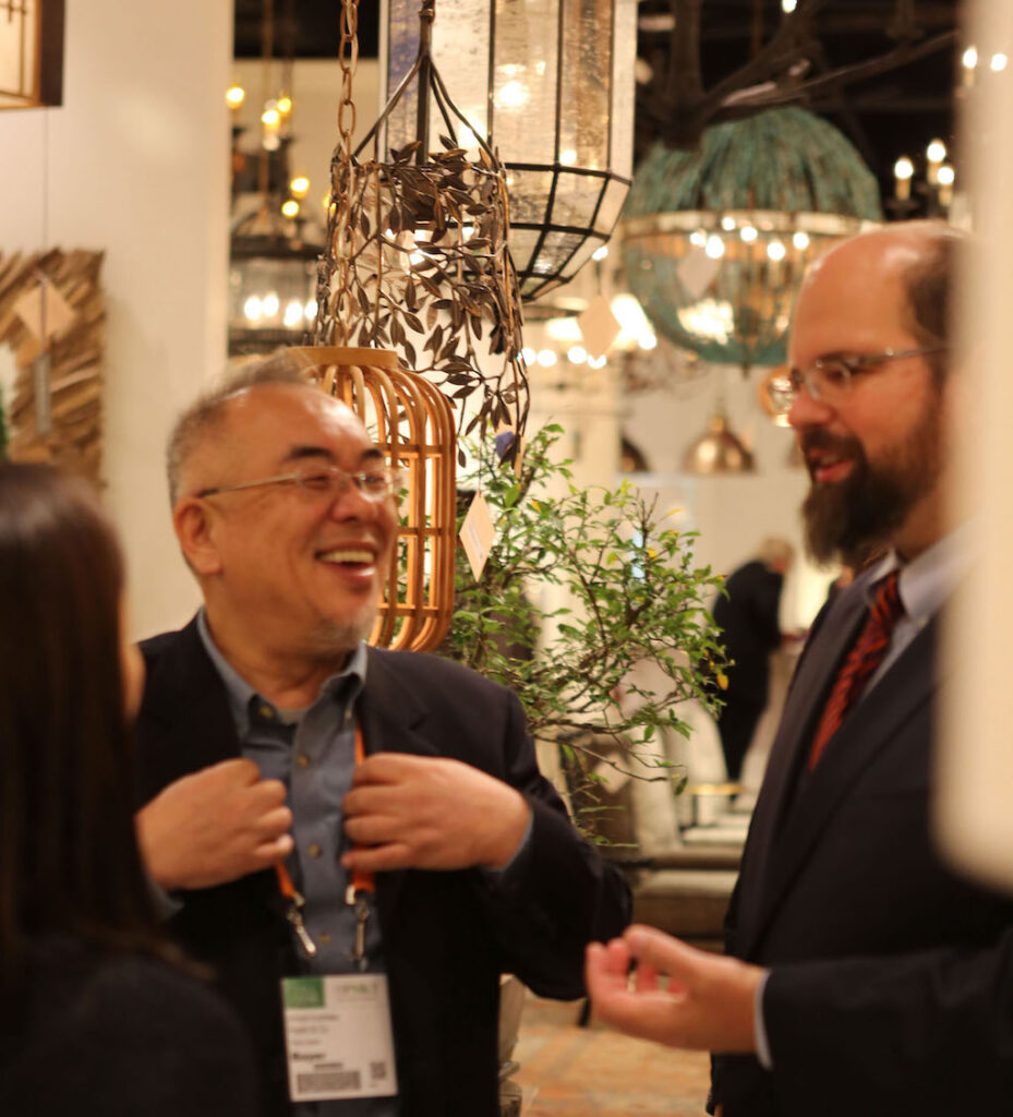 One of our collaborations that began overseas is with Hiroshi Koshitaka, seen here with Brownlee. Second spoiler alert: we have a new colorway of Graduation Chandeliers coming in a few weeks!