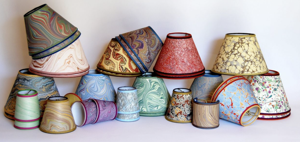 These shades by Susan Schneider of Shandell's will be colorful in our showroom.